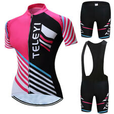 Women Cycling Jersey Set Short Sleeve Bicycle Clothing Quick-Dry  Anti-Sweat