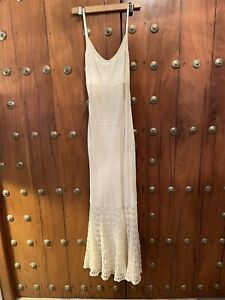 Temperley London Cream Long Dress. New With Tags. Large