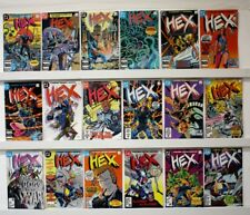 Hex  Lot of 18 comics  Issues #'s: #1-18 STRAIGHT RUN  1985  VF+ or better