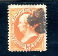 USAstamps Used FVF US 1873 Webster Scott 163 Cat $160