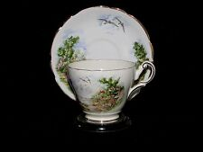 Vintage Regency Tea Cup and Saucer Set with Beach Scene