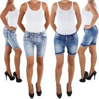 Damen Hotpants Hot Pants Jeans Shorts Kurze Hose Capri Hüft Stretch Bermuda Somm