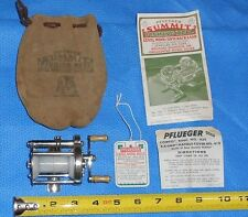Vintage Pflueger Summit 1993L Bait Casting Level Wind Fishing Reel w/Bag/Papers