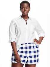 Old Navy Women's Plus White Classic Twill Shirt Size 2X