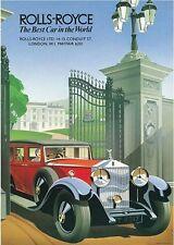 Rolls Royce Phantom Drophead Coupe CARS1933 Print Poster A4 A3 A2 A1