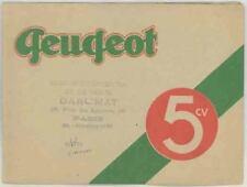 Catalogues automobiles pour Peugeot