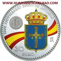 España 30 EUROS 2018 PLATA SC @COLORES@ 1300 ANIVERSARIO DEL REINO DE ASTURIAS