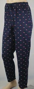 Tommy Hilfiger Navy Blue Pajamas Lounge Sleep Pants Multi Tommy Logo NWT