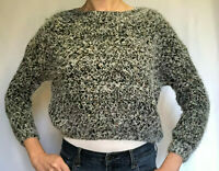 Lumiere Chunky Knit Slouchy Oversized Sweater Multi-color with Gray/Grey Base S