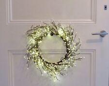 BIANCO Natale Bobble CORONA 30 cm 20 Luci Led Indoor/Outdoor, LOUNGE