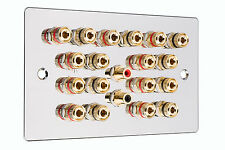 Chrome 9.2 Surround Sound Audio Speaker Wall Face PLATE NO SOLDERING required