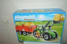 BOITE  PLAYMOBIL COUNTRY TRACTEUR ET REMORQUE FERME  NEUF BOX 6130