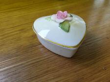 Coalport - China Fondant Rose - Trinket Box - Made for M&S