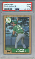 1987 Topps Mark McGwire #366 Oakland Athletics PSA 9
