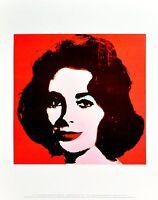 Andy Warhol Liz on red 1963 Poster Kunstdruck Bild 36x28cm - Germanposters