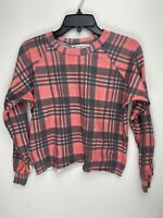 Wildfox Couture Womens Plaid Pullover Sweater Multicolor