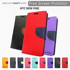Mercury Goospery Fancy Dairy Wallet Case For HTC One M10 Light Pink Free SP