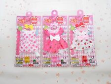 9 inch size DRESS set x 3 for ELLY DOLL DAISO JAPAN  (Licca doll, Neo Blythe)