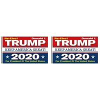 2-Pack Re-Elect Trump 2020 President US Keep America Great Make Donald 3x5 Flag