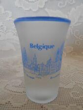 Collectible BELGIUM / BELGIQUE Satin Glass w/Cobalt Blue Shot Glass