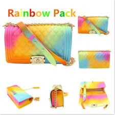 PVC Jelly Bag Ladies Shoulder Jelly Bag PVC Fashion Handbags Color Matte Rhombic