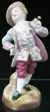 Antique Early 19th C German Porcelain Figurine Stately Gentleman with Pipe