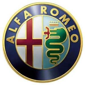 2x74mm Alfa Romeo Klassisch ALU Emblem Logo Kühlergrill 147 GT GOLD