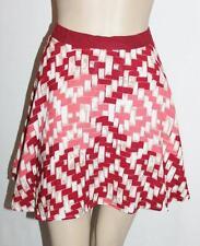 Mika & Gala Designer Red Multi Full Short Skirt Size M BNWT #SB16