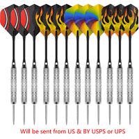 Steel tip darts 20g+30 Flights+12 Aluminum shafts with rings+12 Barrels-CyeeLife