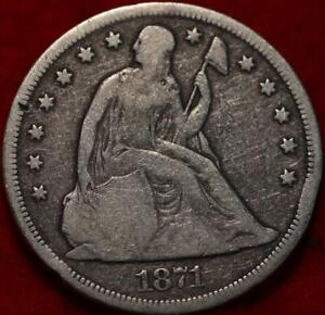1871 Philadelphia Mint Silver Seated Dollar