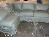 Pottery Barn PB Basic Sofa Couch Sectional SAGE CANVAS SLIPCOVER ONLY NO SOFA