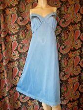 Vintage Vanity Fair Blue Silky Nylon Plus Size Empire Slip Nighty Lingerie 46