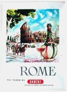 Original vintage poster ROME ITALY COLLISEUM WINE c.1960