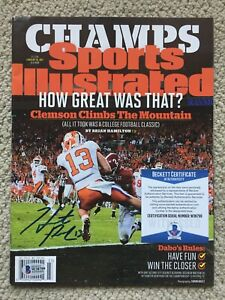 Hunter Renfrow Signed Sports Illustrated January 16, 2017 Clemson Tigers BGS COA