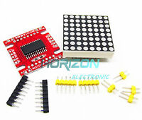 5PCS Red MAX7219 dot matrix module Arduino microcontroller module DIY KIT