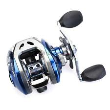 Mini Fishing Line Wheel Spinning Reel / 10+1 Ball Bearings Silver and Blue 213g