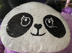Panda Plush Sequin Flip Pillow by Justice