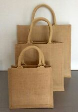Unbranded Patternless Jute Outer Handbags