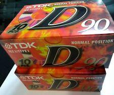 Lot  20 pcs. cassette sealed tapes Tdk 90  d-90EB  cintas caset D90  type I new
