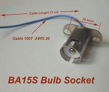 10pcs BA15s Bayonet Light Bulb Socket 1073 1093 7506 1156
