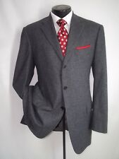 Luciano Barbera Gray Fine Striped 3 Buttons Flannel Wool Coat Jacket 42 L