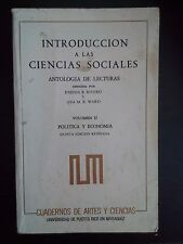 Introduccion a las Ciencias Sociales - Eneida Rivera - Ana Ward - Vol 2 - 1986