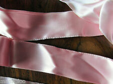 MERCERIE RUBAN  rose satin 1mx 4.2 cm☺RUBBON pink