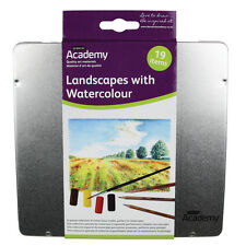 DERWENT ACADEMY LANDSCAPE WITH WATERCOLOUR 19 ITEMS A SPECIAL TIN COLLECTION