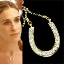 Western w Swarovski Crystal HORSESHOE Celebrity Lucky Pendant charm Necklace New