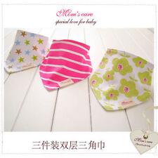 Cotton Flowers Baby Dribbles/Bandana Bibs Cloths
