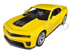 CHEVROLET CAMARO ZL1 YELLOW 1:24 DIECAST MODEL CAR BY WELLY 24042