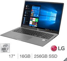 """LG Gram 17"""" ultra-leggero grigio Laptop i7-1065G7 16GB 256GB 17Z90N-V.AA72A1"""