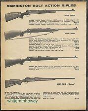 1980 REMINGTON 700 ADL Deluxe,700BDL, Classic, C Custom Rifle AD