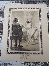 1/ Ancienne estampe vie des dames galantes érotica par Edmond MALASSIS 1934